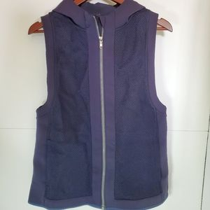 Lululemon hoodie vest mesh navy blue medium large